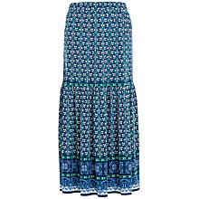 Buy Max Studio Printed Jersey Maxi Skirt, Ocean/Green Online at johnlewis.com
