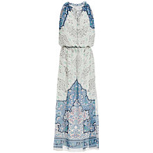 Buy Max Studio Placement Tile Print Maxi Dress, Ivory/Hydrangea Online at johnlewis.com