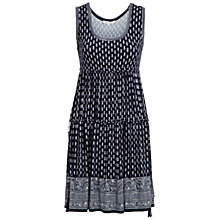 Buy Max Studio Tiered Print Jersey Dress, Navy/Off White Online at johnlewis.com