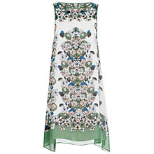Buy Max Studio Floral Placement Print Dress, Kelly Green Online at johnlewis.com