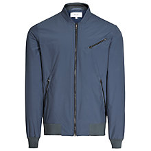 Buy Reiss Anthem Bomber Zip-Up Jacket, Airforce Blue Online at johnlewis.com
