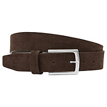 Buy Reiss Casual Suede Belt, Dark Brown Online at johnlewis.com