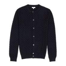 Buy Reiss Thompson Textured Cardigan, Navy Online at johnlewis.com