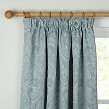 Buy John Lewis Country Damask Lined Pencil Pleat Curtains Online at johnlewis.com