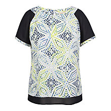 Buy Celuu Ada Chiffon Sleeve Top, Multi Online at johnlewis.com