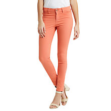 Buy Oasis Jade Coloured Skinny Jeans, Coral Online at johnlewis.com