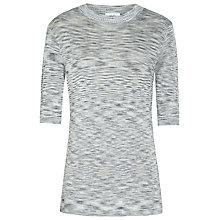 Buy Reiss Saskia Space Dye Jumper, Grey/Blue Online at johnlewis.com
