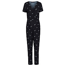 Buy Sugarhill Boutique Natasha Zebra Polka Dot Jumpsuit, Black Online at johnlewis.com