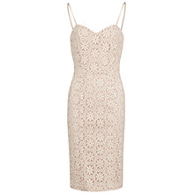Buy Gina Bacconi Daisy Embroidered Organza Dress, Ivory Online at johnlewis.com
