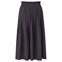 Buy Jigsaw Engineered Pleat Skirt, Storm Grey Online at johnlewis.com