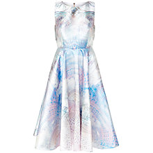 Buy Ted Baker Larin Dreamscape Cut-Out Midi Dress, Lilac Online at johnlewis.com