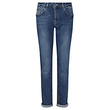 Buy Jigsaw Hampton Boyfriend Jeans, Mid Blue Online at johnlewis.com