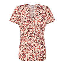 Buy Jigsaw Silk Waterlily Top, Pink Online at johnlewis.com