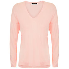 Buy Jaeger Silk Cotton Jumper, Rose Pink Online at johnlewis.com
