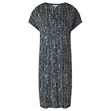 Buy Jigsaw V Neck Wave Spotted Print Dress, Navy Online at johnlewis.com