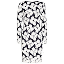 Buy Reiss Lottie Lace Insert Dress, Off White/Night Online at johnlewis.com