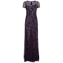 Buy Adrianna Papell Cap Sleeve Beaded Gown, Amethyst Online at johnlewis.com