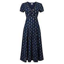 Buy East Anisha Print Midi Dress, Blue Online at johnlewis.com