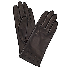 Buy John Lewis Studded Silk Lined Gloves, Black Online at johnlewis.com