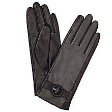 Buy John Lewis Leather Contrast Buckle Gloves Online at johnlewis.com