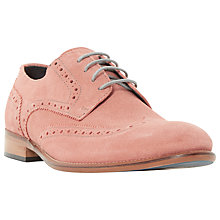 Buy Bertie Bubblegum Suede Lace-Up Brogues Online at johnlewis.com