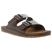 Buy Bertie Frodo Double Buckle Leather Sandals, Brown Online at johnlewis.com