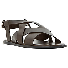 Buy Bertie Ionian Multi Strap Leather Sandals, Brown Online at johnlewis.com