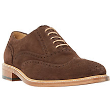 Buy Dune Black Sunbeam Suede Lace-Up Oxford Brogues, Brown Online at johnlewis.com