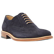 Buy Dune Black Sunbeam Suede Lace-Up Oxford Brogues, Navy Online at johnlewis.com
