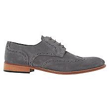 Buy Bertie Bubblegum Suede Lace-Up Brogues, Grey Online at johnlewis.com