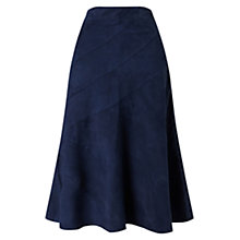 Buy East Panelled Suede Skirt, Ink Online at johnlewis.com