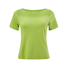 Buy Precis Petite Bardot Knit Top, Lime Green Online at johnlewis.com