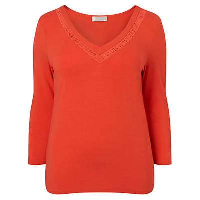 Windsmoor Cutwork Jersey Top, Clementine