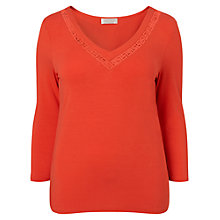 Buy Windsmoor Cutwork Jersey Top, Clementine Online at johnlewis.com