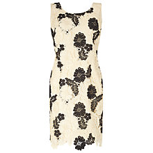 Buy Jacques Vert Petite Mono Lace Dress, Cream/Black Online at johnlewis.com
