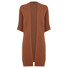 Buy Warehouse Ribbed Cocoon Cardigan, Tan Online at johnlewis.com