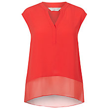 Buy Windsmoor Textured Blouse, Bright Orange Online at johnlewis.com