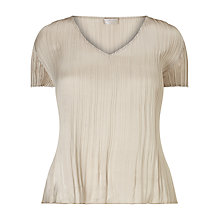 Buy Windsmoor Crinkle Top, Light Neutral Online at johnlewis.com