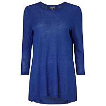 Buy Phase Eight Lulu Linen Top, Cobalt Online at johnlewis.com