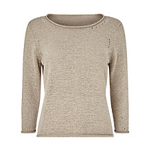 Buy Precis Petite Tape Yarn Jumper, Beige Online at johnlewis.com