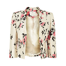 Buy Jacques Vert Petite All Over Floral Jacket, Cream/Pink Online at johnlewis.com