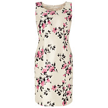 Buy Jacques Vert Petite All Over Floral Dress, Cream/Pink Online at johnlewis.com