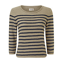 Buy Precis Petite Tape Yarn Stripe Jumper, Beige/Blue Online at johnlewis.com