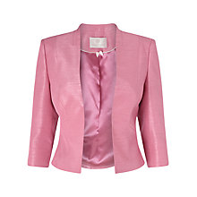Buy Jacques Vert Petite Edge To Edge Jacket, Rose Pink Online at johnlewis.com