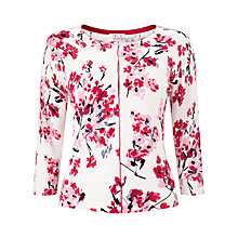 Buy Precis Petite Printed Cardigan, Multi/Pink Online at johnlewis.com