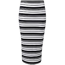 Buy Pure Collection Mia Jersey Tube Skirt, Navy/White Online at johnlewis.com