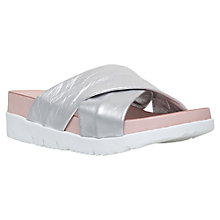 Buy Carvela Kasper Wedge Slip On Sandals, Silver Online at johnlewis.com