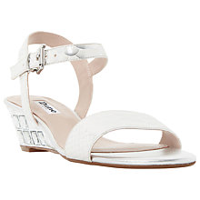Buy Dune Monaa Wedge Heeled Sandals, Silver Online at johnlewis.com