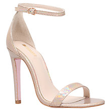 Buy Carvela Gatsby Stiletto Sandals, Gold Online at johnlewis.com