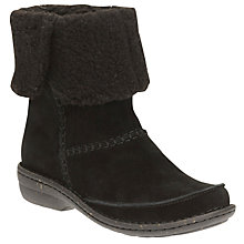 Buy Clarks Avington Grace Turnover Ankle Boots, Black Online at johnlewis.com